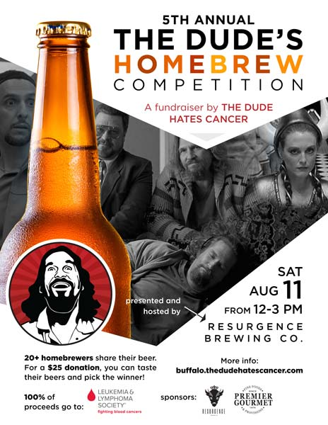 The Dude's Homebrew Competition - August 11, 2018 at Resurgence Brewing Co.