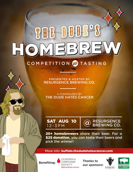 The Dude's Homebrew Competition - August 10, 2019 at Resurgence Brewing Co.